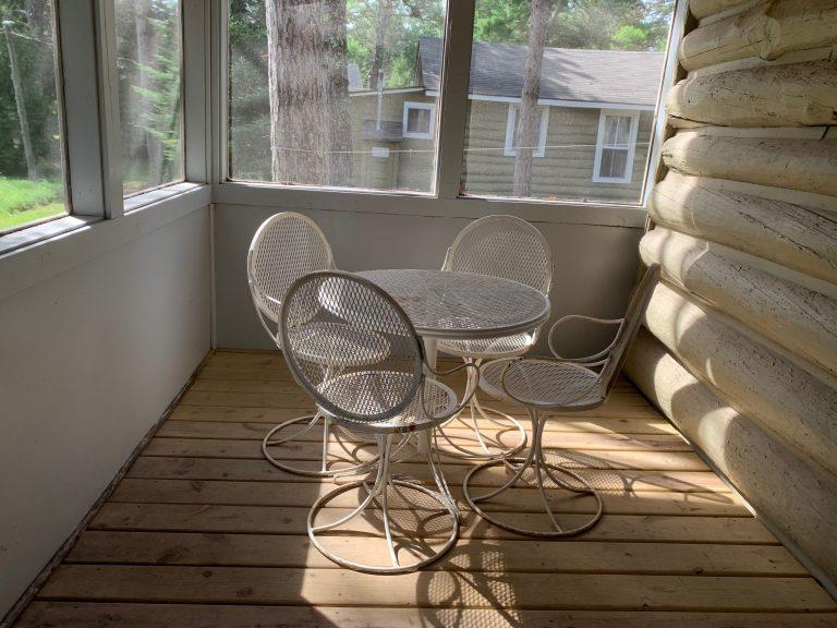 cabin 8 porch